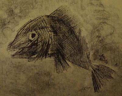 ラクガキ 140131-04 (魚)